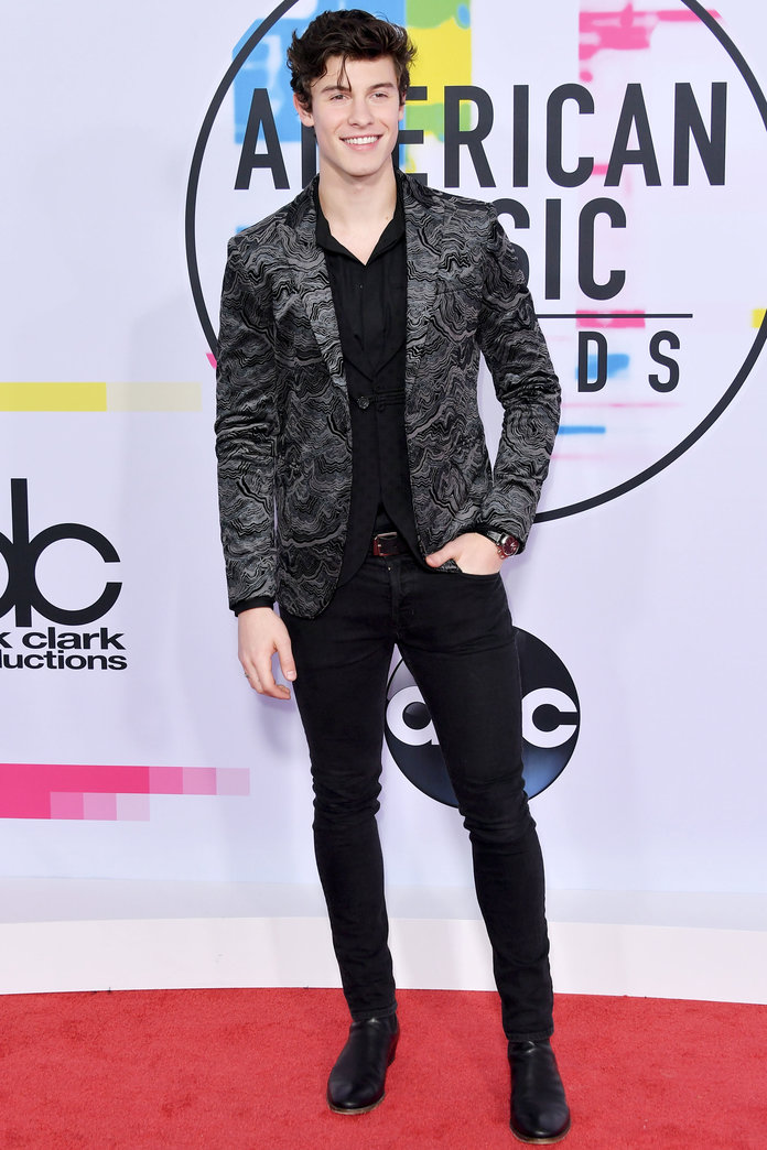 LOS ANGELES, CA - NOVEMBER 19:  Shawn Mendes attends the 2017 American Music Awards at Microsoft Theater on November 19, 2017 in Los Angeles, California.  (Photo by Neilson Barnard/Getty Images)