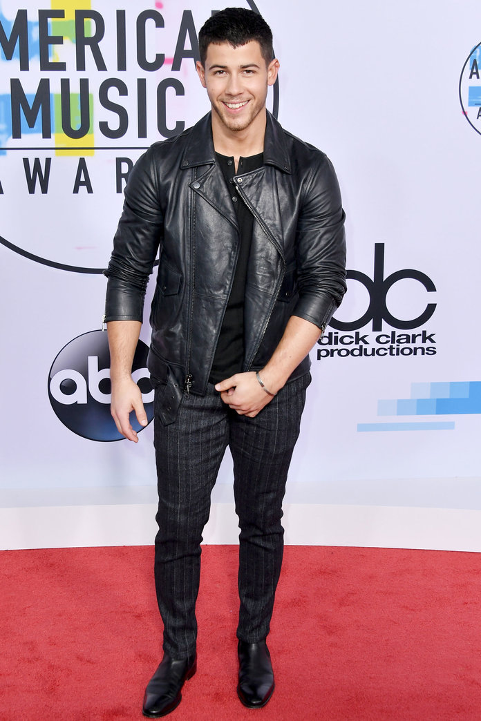 LOS ANGELES, CA - NOVEMBER 19:  Nick Jonas attends the 2017 American Music Awards at Microsoft Theater on November 19, 2017 in Los Angeles, California.  (Photo by Neilson Barnard/Getty Images)