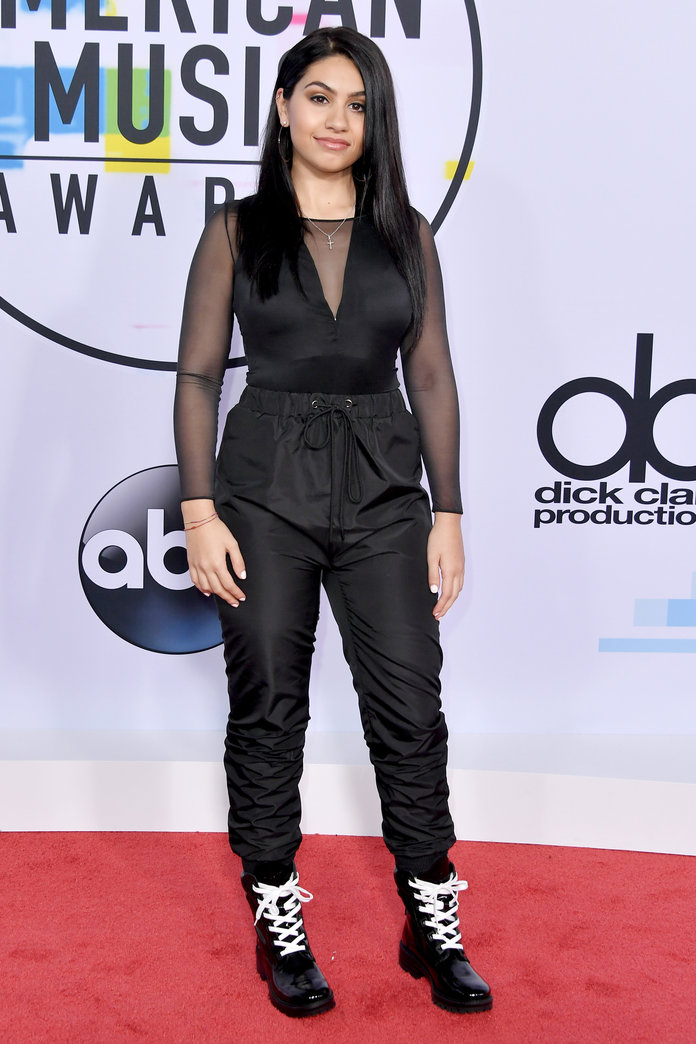 LOS ANGELES, CA - NOVEMBER 19:  Alessia Cara attends the 2017 American Music Awards at Microsoft Theater on November 19, 2017 in Los Angeles, California.  (Photo by Neilson Barnard/Getty Images)