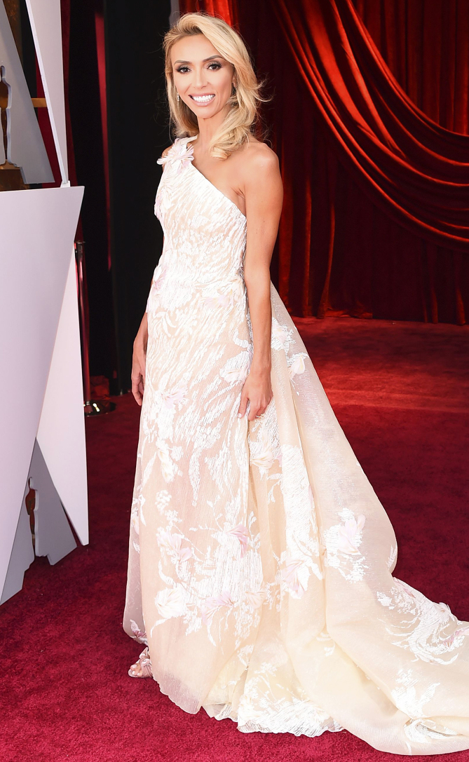 Mandatory Credit: Photo by Jordan Strauss/Invision/AP/Shutterstock (9448539b)Giuliana Rancic arrives at the Oscars, at the Dolby Theatre in Los Angeles90th Academy Awards - Arrivals, Los Angeles, USA - 04 Mar 2018
