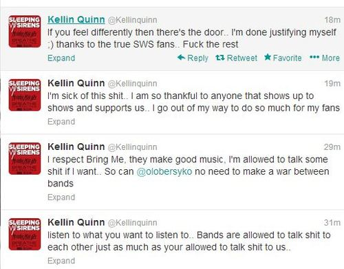Oliver Sykes And Kellin Quinn Fight