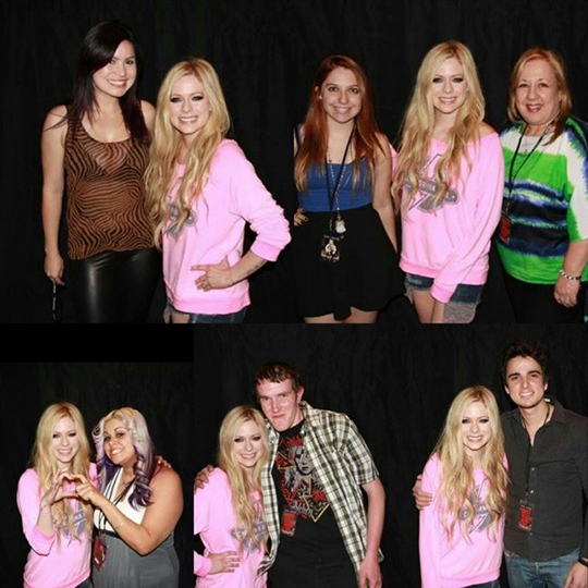 meet greet avril lavigne brasil 2014