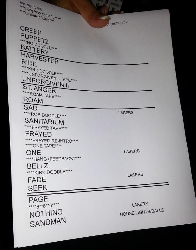 machine set list