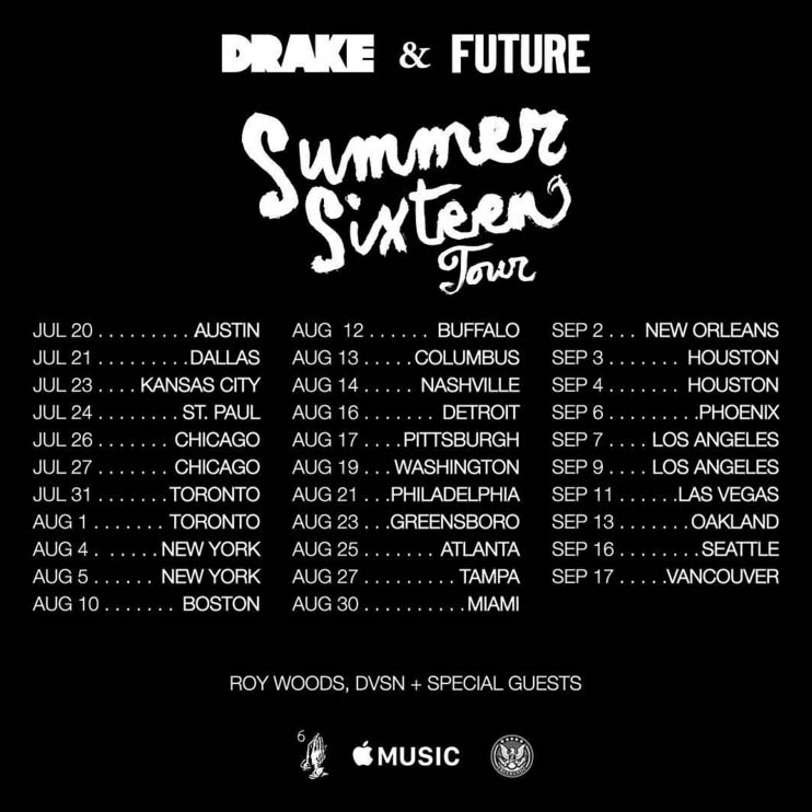 "Drake & Future Announce ""Summer Sixteen"" Tour Dates, Plus OVO Fest ..."