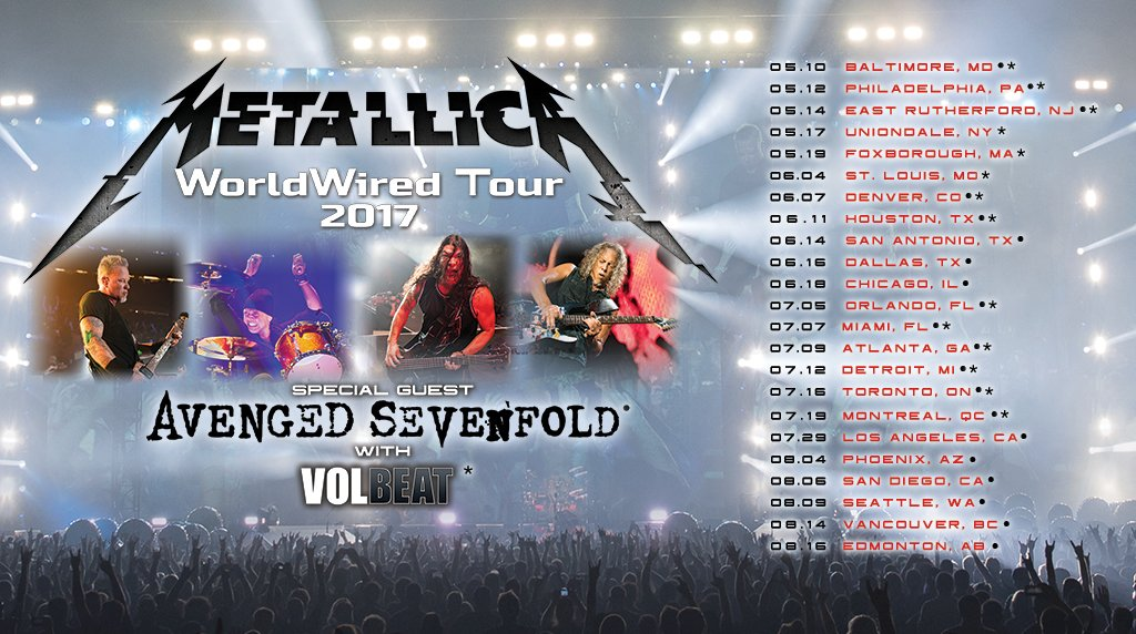metallica avenged sevenfold tournee quebec