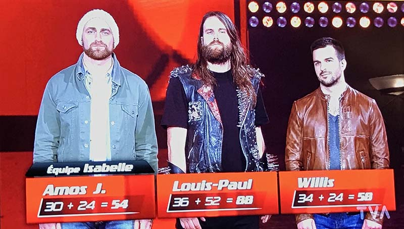 La Voix 2017 >> Le Candidat Metal Louis Paul Gauvreau Remporte Son Direct Et Le Vote
