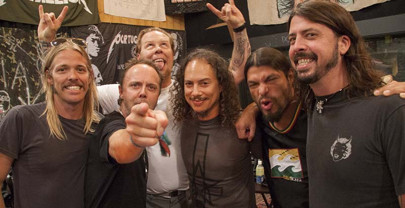 metallica foo fighters