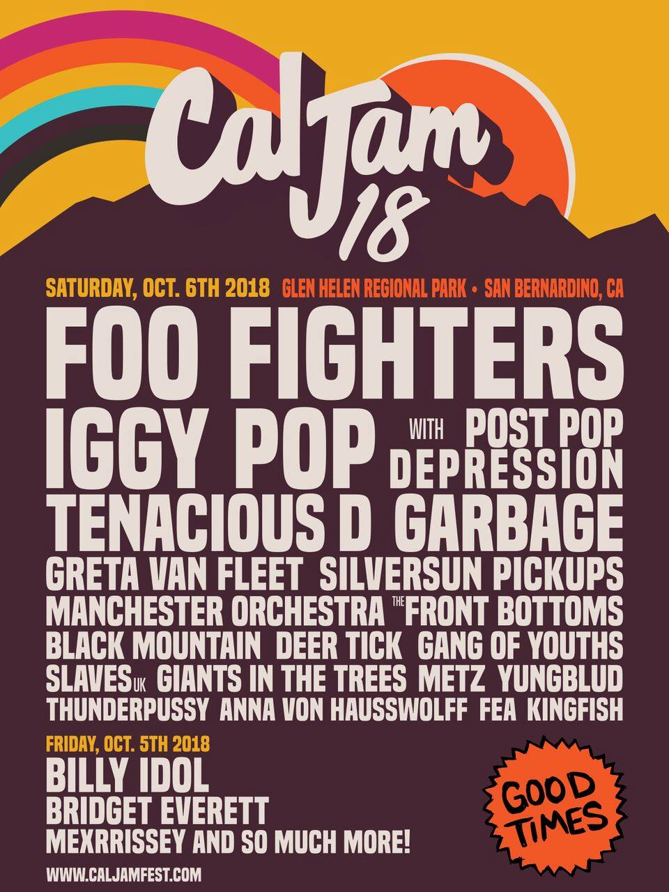foo fighters cal jam 2018