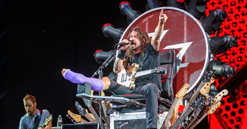 dave grohl jambe