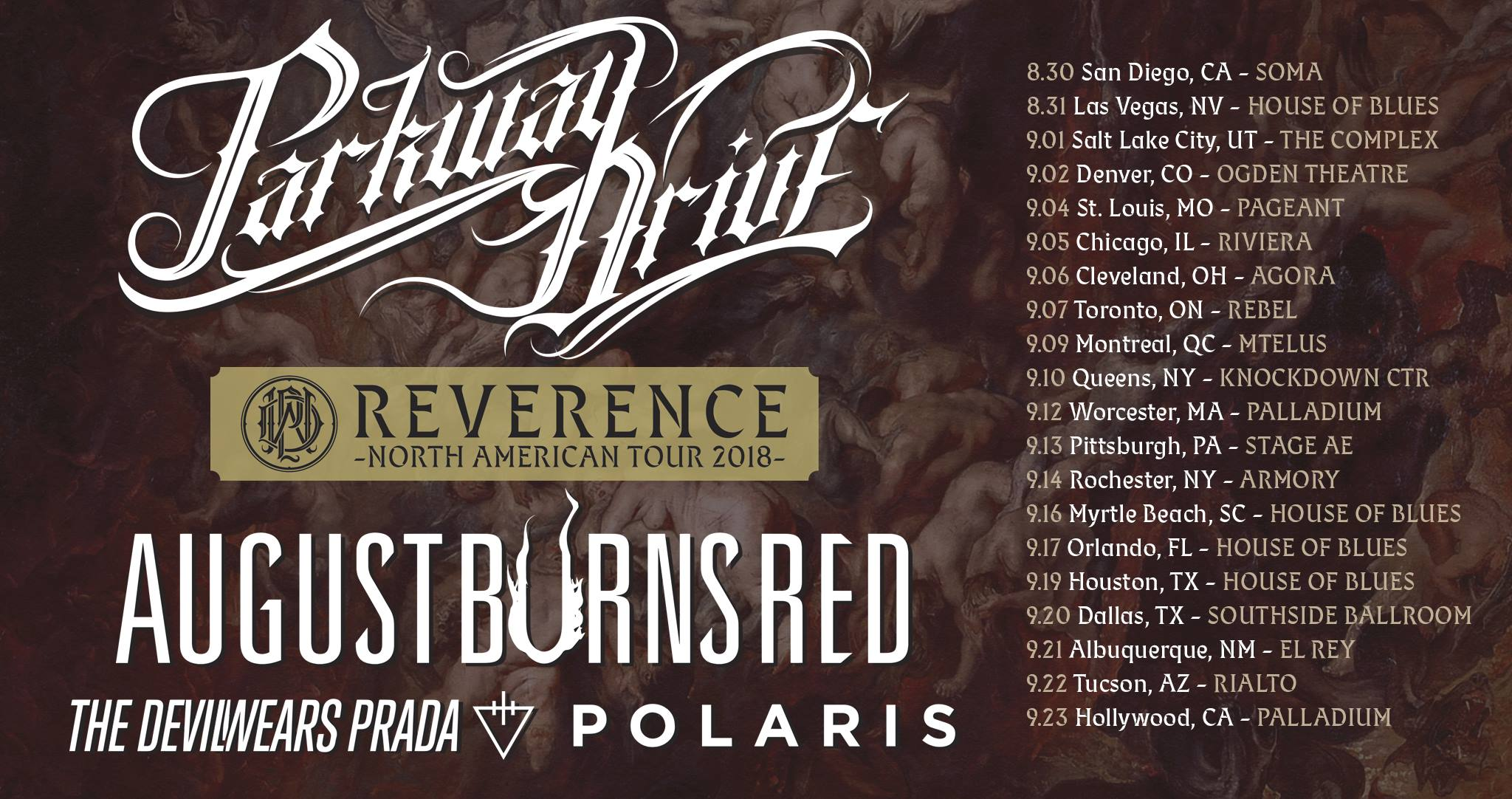 parkway drive montreal 2018