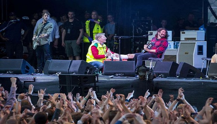 dave grohl jambe 2018