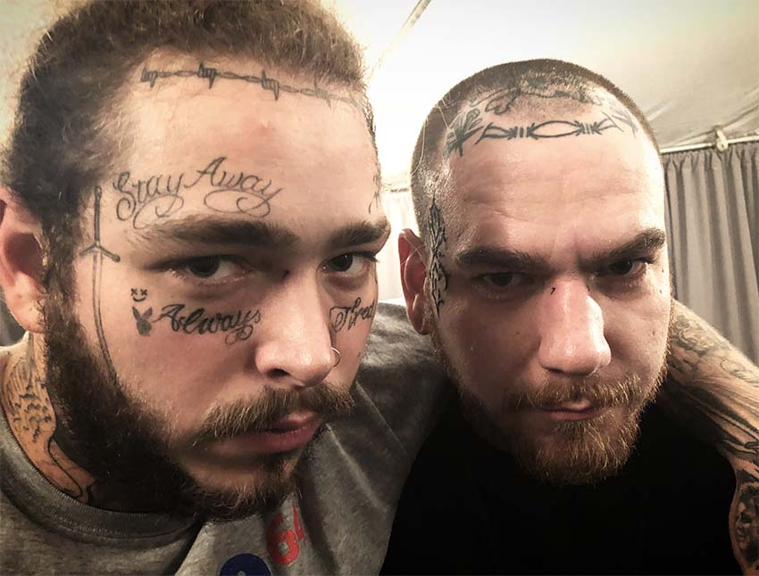 post malone visage tattoo