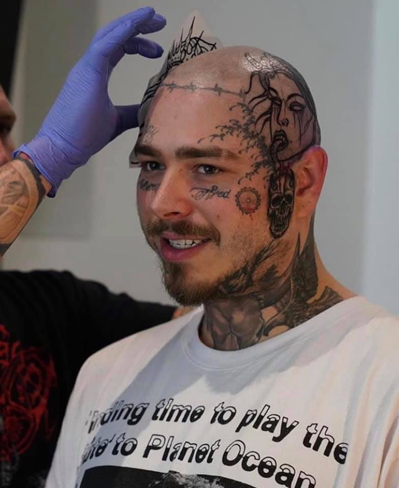 post malone tatoo crane
