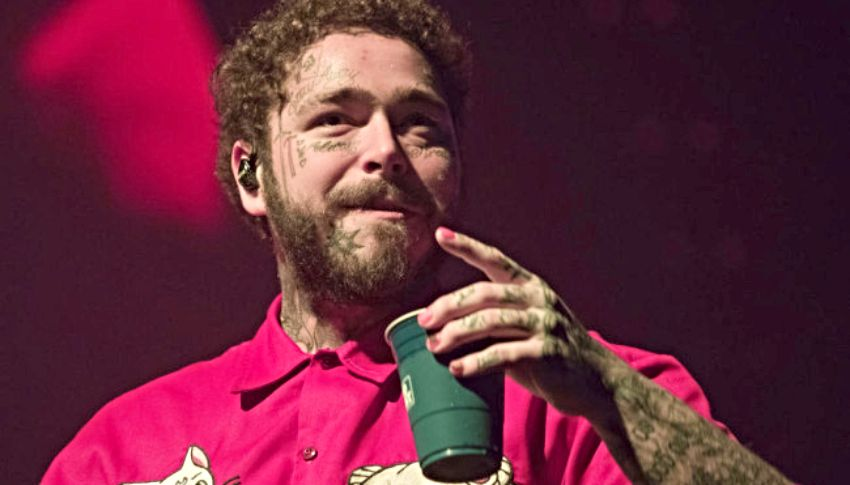 post malone beer pong league